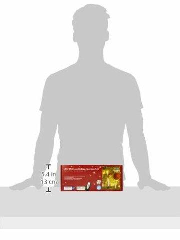 Idena 8582090 - 10 Stück LED Christbaumkerzen zum Klemmen, warm weiß, ca. 9 cm, mit Dimmer und 6 Stunden Timer Funktion, Batterie betrieben, mit Fernbedienung - 2