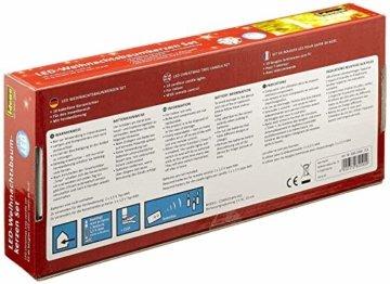 Idena 8582090 - 10 Stück LED Christbaumkerzen zum Klemmen, warm weiß, ca. 9 cm, mit Dimmer und 6 Stunden Timer Funktion, Batterie betrieben, mit Fernbedienung - 3