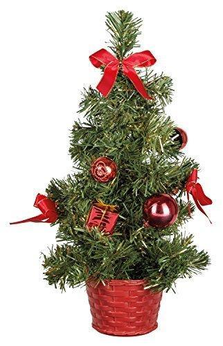 Idena 8582154 - Deko Tannenbaum mit 10 LED warm weiß, mit 6 Stunden Timer Funktion, Batterie betrieben, für Weihnachten, Advent, als Stimmungslicht, Christbaum, ca. 35 cm - 2