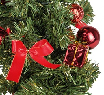 Idena 8582154 - Deko Tannenbaum mit 10 LED warm weiß, mit 6 Stunden Timer Funktion, Batterie betrieben, für Weihnachten, Advent, als Stimmungslicht, Christbaum, ca. 35 cm - 3