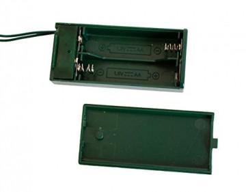 Idena 8582154 - Deko Tannenbaum mit 10 LED warm weiß, mit 6 Stunden Timer Funktion, Batterie betrieben, für Weihnachten, Advent, als Stimmungslicht, Christbaum, ca. 35 cm - 4