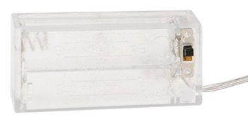 Idena 8585271 - Weihnachtskranz mit 10 LED warm weiß, mit 6 Stunden Timer Funktion, Batterie betrieben, für Deko, Weihnachten, Advent, als Stimmungslicht, Türkranz, ca. 28 cm - 2