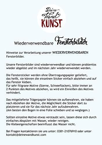 ilka parey wandtattoo-welt Fensterbild Elfe Fee & Maus Mäuschen -WIEDERVERWENDBAR- Fensterdeko Fensterbilder Winterdeko bf1 - 3