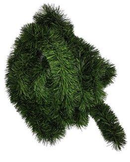 Ilkadim 1 Stück Tannengirlande 5 oder 10m lang, Dekogirlande 8-10cm, Girlande Weihnachten (5 Meter) - 1