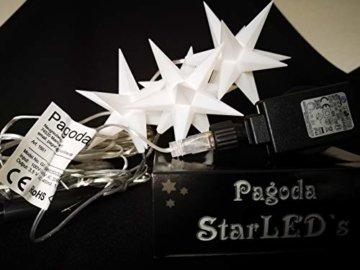 Importeur Pagoda GmbH Leuchtsterne StarLED Lichterkette 3er Set Weiss - 3