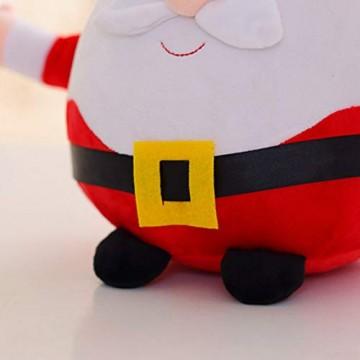 JFZCBXD Weihnachtsmann-Figur, bunter LED-Licht singt Christmas Song glühenden Licht Plüsch Weihnachtsmann gefüllter Puppe Spielzeug Schöne Geschenke für Kinder,Glowingmoose,35cm0.45KG - 3