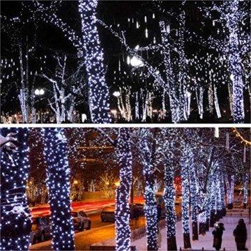 JMEXSUSS 2 Pack Solar Lichterkette 100LED 42.7ft 8 Modi Solar Weihnachtsbeleuchtung wasserdicht für Gärten, Hochzeit, Party, Häuser, Weihnachtsbaum, Vorhänge, im Freien (Weiß) - 3