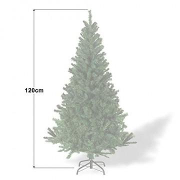 Julido Weihnachtsbaum Kunstbaum künstlicher Baum Tannenbaum Dekobaum Christbaum Grün mit Ständer 120cm 260 Spitzen - 4