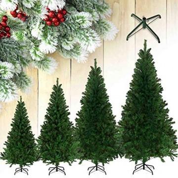 Julido Weihnachtsbaum Kunstbaum künstlicher Baum Tannenbaum Dekobaum Christbaum Grün mit Ständer 120cm 260 Spitzen - 5
