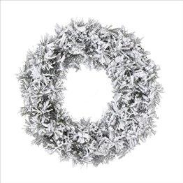 Kaemingk 683640 Snowy Toronto Kranz, Soft Nadel PVC, innen, Durchmesser 50 cm - 1