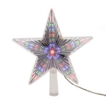 Kaemingk LED Stern für Baumspitze 22cm mit Lauflichteffekt bunt - 1