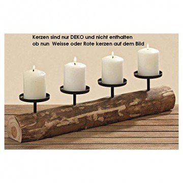 Kerzenleuchter rustikal Alpenhütte Shabby Landhaus Design Tempe 4er L51cm Material: Eukalyptus /lat. - 5