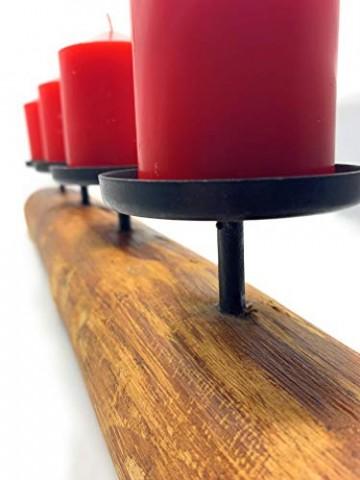 Kerzenleuchter rustikal Alpenhütte Shabby Landhaus Design Tempe 4er L51cm Material: Eukalyptus /lat. - 6