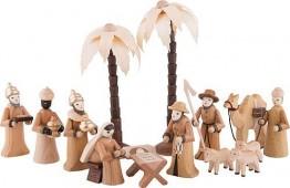 Kleine Figuren & Miniaturen Krippenfiguren Set - 14 teilig - Theo Lorenz - 1