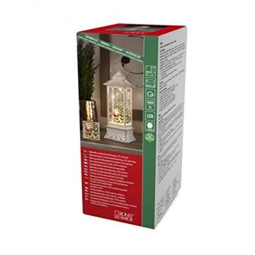 """Konstsmide, 4364-200, LED Wasserlaterne """"Weihnachtsmann mit Hund"""", weiß, wassergefüllt, 5h Timer, warm weiße Diode, batteriebetrieben, Innen - 1"""