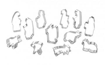 Krippenfiguren Ausstechformen Set 12 Stück Krippenzubehör für Weihnachten - Plätzchenausstecher für Weihnachtsdeko - 3