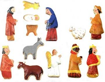 Krippenfiguren Ausstechformen Set 12 Stück Krippenzubehör für Weihnachten - Plätzchenausstecher für Weihnachtsdeko - 4
