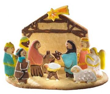Krippenfiguren Ausstechformen Set 12 Stück Krippenzubehör für Weihnachten - Plätzchenausstecher für Weihnachtsdeko - 5