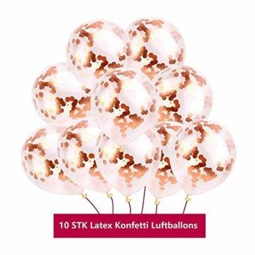 KYONANO Lametta Vorhänge, 6 STK Metallic Tinsel Vorhänge (1m x 2m) mit 10 STK Latex Konfetti Luftballon, metallischer Glanz Fransenvorhang, Glitzervorhang für Weihnachtsdeko Party Rosegold(16er/Set) … - 6