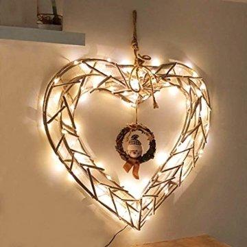 LE 22M LED Lichterkette Draht aus Kupferdraht, 200 LEDs, Wasserdicht IP65, Strombetrieben mit Stecker, Ideale Weihnachtsbeleuchtung für Außen, Innen, Zimmer, Party, Hochzeit Deko usw. Warmweiß - 4