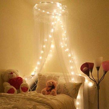 LE 22M LED Lichterkette Draht aus Kupferdraht, 200 LEDs, Wasserdicht IP65, Strombetrieben mit Stecker, Ideale Weihnachtsbeleuchtung für Außen, Innen, Zimmer, Party, Hochzeit Deko usw. Warmweiß - 5