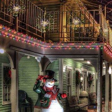 LED Lichterkette, Queta Lichtkette mit Fernbedienung Outdoor Weihnachtslichterkette Batteriebetrieben, explodierendes Feuerwerk, Warmweiß (180 Lichter) - 6