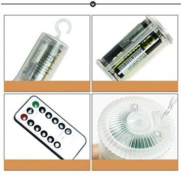 LED Lichterkette, Queta Lichtkette mit Fernbedienung Outdoor Weihnachtslichterkette Batteriebetrieben, explodierendes Feuerwerk, Warmweiß (120 Lichter) - 5