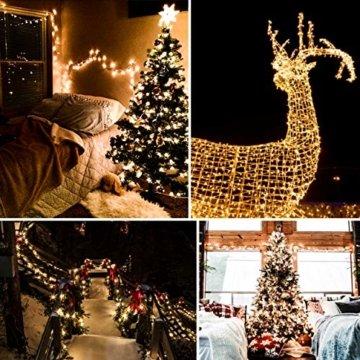LED Lichterkette, von myCozyLite®, 200 LED Deko Lichterketten in 20 Metern Lang, Warmweiß, Wasserdicht für Innen und Außen - 2