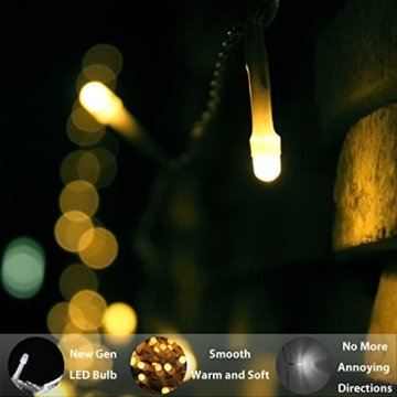 LED Lichterkette, von myCozyLite®, 200 LED Deko Lichterketten in 20 Metern Lang, Warmweiß, Wasserdicht für Innen und Außen - 3