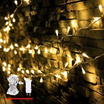 LED Lichterkette, von myCozyLite®, 200 LED Deko Lichterketten in 20 Metern Lang, Warmweiß, Wasserdicht für Innen und Außen - 1