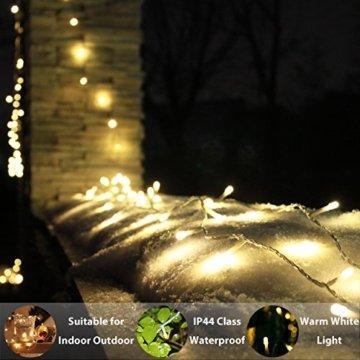 LED Lichterkette, von myCozyLite®, 200 LED Deko Lichterketten in 20 Metern Lang, Warmweiß, Wasserdicht für Innen und Außen - 6
