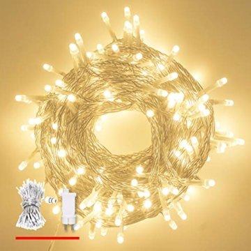 LED Lichterkette, von myCozyLite®, 200 LED Deko Lichterketten in 20 Metern Lang, Warmweiß, Wasserdicht für Innen und Außen - 7