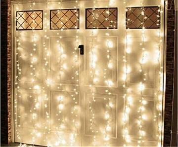 LED Lichtervorhang, LED Lichterkette, 216 LED 5M Eisregen/Eiszapfen Lichterkette, LED String Licht, Lichterkettenvorhang, Weihnachtsbeleuchtung, Weihnachtsdeko Christmas INNEN und AUSSEN, Warmweiß - 4