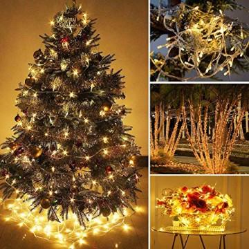 LED Lichtervorhang, LED Lichterkette, 216 LED 5M Eisregen/Eiszapfen Lichterkette, LED String Licht, Lichterkettenvorhang, Weihnachtsbeleuchtung, Weihnachtsdeko Christmas INNEN und AUSSEN, Warmweiß - 5