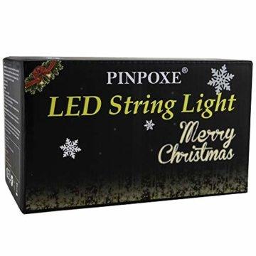 LED Lichtervorhang, LED Lichterkette, WeihnachtenBeleuchtung, 93 LED Lichterkettenvorhang, Lang Schneeflocke LED String Licht, EU Stecker, Innen/Außen, Weihnachtsdeko Christmas, Warmweiß 3.5 * 0.8M - 8