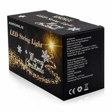 LED Lichtervorhang Lichter, LED Lichterkette, Weihnachtsbeleuchtung, 93er LED Lichtervorhang Lang Schneeflocke LED String Licht, Innen/Außen Weihnachtsdeko Deko Christmas 3.5 x 0.8 m - 4