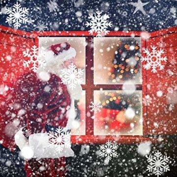 LED Schneeflocke Projektor Licht, UNIFUN Wasserdicht Schneefall Weihnachtsbeleuchtung Aussen LED Projektionslampe für Außen und Innen Deko,Partys, Weinachten und Feiertage - 2