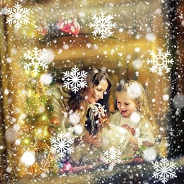 LED Schneeflocke Projektor Licht, UNIFUN Wasserdicht Schneefall Weihnachtsbeleuchtung Aussen LED Projektionslampe für Außen und Innen Deko,Partys, Weinachten und Feiertage - 3
