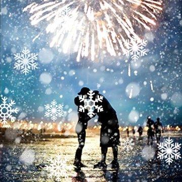 LED Schneeflocke Projektor Licht, UNIFUN Wasserdicht Schneefall Weihnachtsbeleuchtung Aussen LED Projektionslampe für Außen und Innen Deko,Partys, Weinachten und Feiertage - 4
