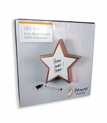 LED Stern Lampe zum individuellen Beschriften inkl. Stift mit intigrierten Schwamm, Lightbox Leuchtschild Leuchtbox Lichtbox Whiteboard Geschenkbox Leuchtbild - 3