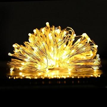 Led String Lichter 6 Stück KingTop Fairy Micro Lights 2M 20 LED batteriebetriebene Silver Wire Wasserdichte Lichter für Holiday Party Hochzeit Mittelstück Flasche Dekoration - 6
