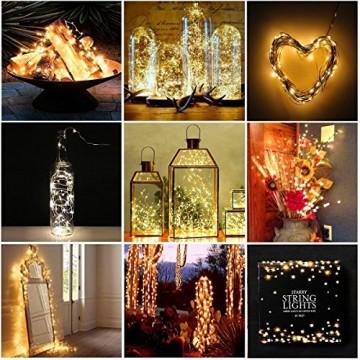 Led String Lichter 6 Stück KingTop Fairy Micro Lights 2M 20 LED batteriebetriebene Silver Wire Wasserdichte Lichter für Holiday Party Hochzeit Mittelstück Flasche Dekoration - 7
