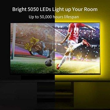 LED Strip Lichterkette, Govee 5m RGB Farbänderung LED Streifen Lichtband Selbstklebend mit Fernbedienung und Controller für Zuhause, Schlafzimmer, TV, Schrankdeko, Hell 5050 LED Band, Schnittbar - 2
