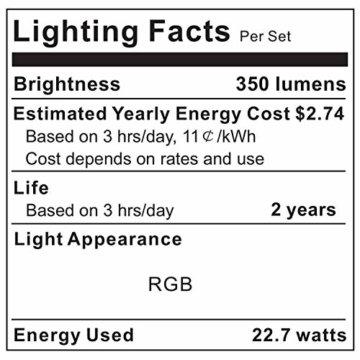 LED Strip Lichterkette, Govee 5m RGB Farbänderung LED Streifen Lichtband Selbstklebend mit Fernbedienung und Controller für Zuhause, Schlafzimmer, TV, Schrankdeko, Hell 5050 LED Band, Schnittbar - 3