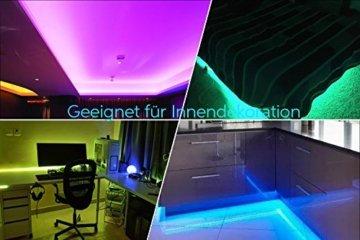 LED Strip RGB 5m LED Licht Streifen SMD 5050 Leds mit Netzteil, Fernbedienung Led stripes Lichtband Leiste Band Beleuchtung,MEHRWEG - 2