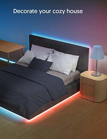 LED Strip RGB 5m, TECKIN 5050 RGB LED Streifen Lichtband Selbstklebend mit Fernbedienung und Netzteil LED lichterkette für die Innenbeleuchtung Küchenbett Flexible Beleuchtungsstreifen von Bar - 2