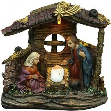 LED Weihnachts Krippe Batterie X-MAS Advents Dekoration Figuren Tisch Lampe Globo 29925 - 1