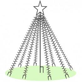 LED-Weihnachtsbaum 250 cm mit Stern beleuchtet mit 820 Micro-LED warmweiß für den Garten außen - 1