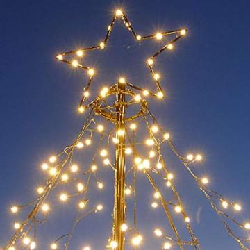 LED-Weihnachtsbaum 250 cm mit Stern beleuchtet mit 820 Micro-LED warmweiß für den Garten außen - 5