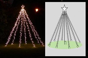 LED-Weihnachtsbaum 250 cm mit Stern beleuchtet mit 820 Micro-LED warmweiß für den Garten außen - 6